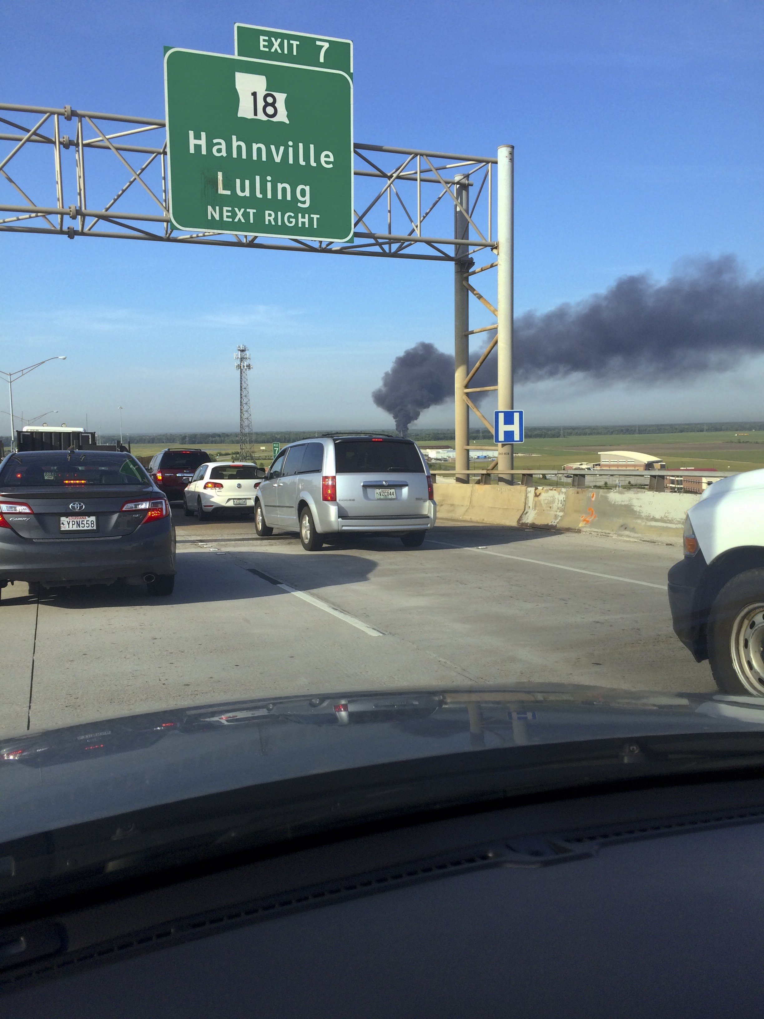 Overturned fuel truck on fire in Luling
