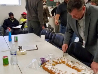Waterworks employees treated to king cake
