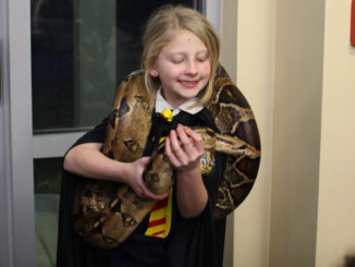 A participant at the St. Charles Parish Library's Harry Potter night.