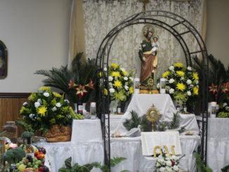 St. Joseph altar at St. Anthony