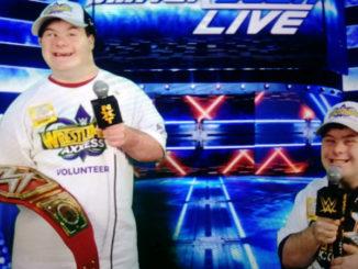 Matthew and Joseph Guichard at Wrestlemania Axxess event.