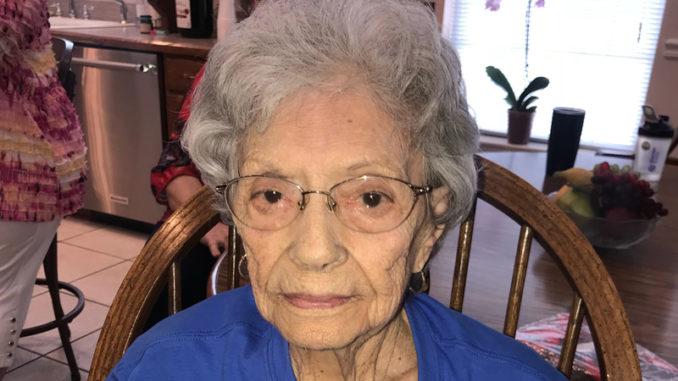 Mary Abate Desimone celebrates her 100th birthday.