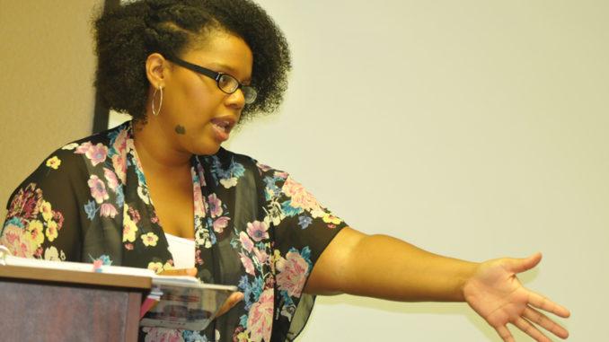 Angela Golden talks to her 'Safe Dates' class.