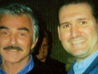 Craig Deroche with actor Burt Reynolds.