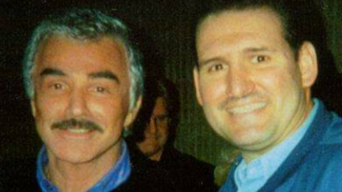 Craig Deroche with actor Burt Reynolds.