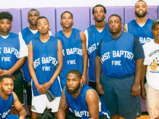The First Baptist Fire, winners of last year's Christian Basketball Tournament.