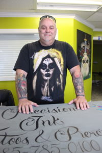 Ted Legendre at Precision Ink in Luling.