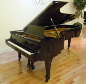 Photo of a Steinway Model D grand concert piano.