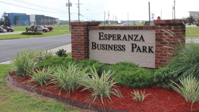 Entrance of Esperanza Business Park in Luling.